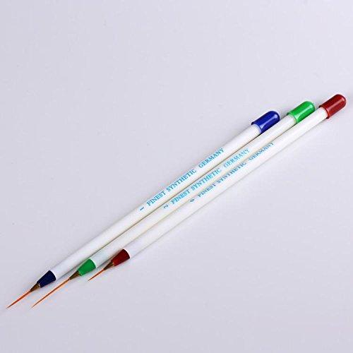 YESURPRISE 3pcs Nail Art Pinceau Acrylique Dessin Ongle Pen Liner