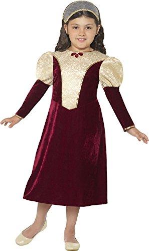 Smiffy's 44406L - Kinder Mädchen Tudor Fräulein Kostüm, Alter: 10-12 Jahre, lila (Die Tudors Halloween Kostüme)