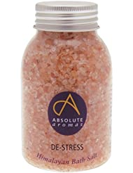 Absolute Aromas Himalayan De-Stress Bath Salt 290g with Bergamot & Jasmine pure essential oil - Use as a relieving soak for tired muscles