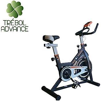 TRÉBOL ADVANCE Bicicleta de Spinning Pantalla LCD, Resistencia ...