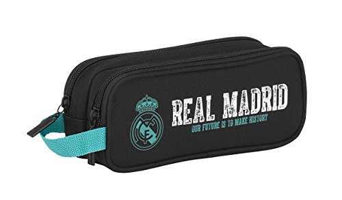 Real Madrid- Portatodo Doble 2, Multicolor, 21 cm (811777513)