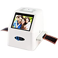 """QPIX High Resolution Portable Film Scanner 22MP/14MP Scans Slides and Negatives 35mm, 110 Film,126KPK Film and Super 8mm 2.4"""" LCD Screen Film to Digital Converter With 16GB SDHC Card Included"""