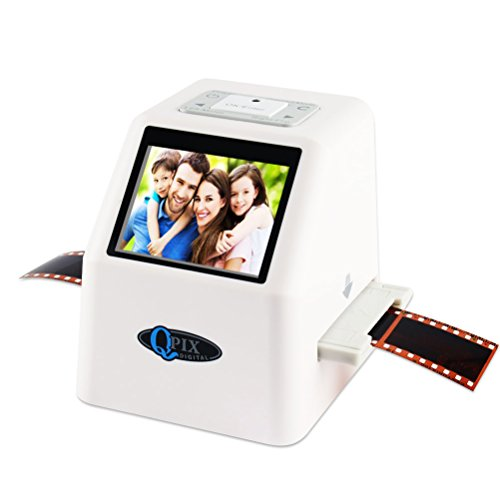 "Price comparison product image QPIX High Resolution Portable Film Scanner 22MP/14MP Scans Slides and Negatives 35mm, 110 Film,126KPK Film and Super 8mm 2.4"" LCD Screen Film to Digital Converter With 16GB SDHC Card Included"