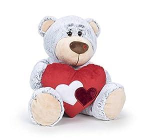 Famosa Softies - Oso de peluche 54cm Bear Love San Valentín, color gris (760017229)