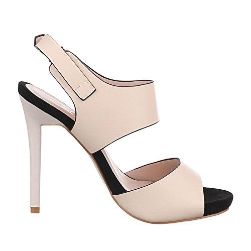Damen Schuhe, F60, SANDALETTEN HIGH HEELS PUMPS Rosa