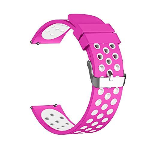 Gear S3 Frontier/Classic 22mm Armband Ersatz Uhrenarmband Silikon Sportarmband (heißes Rosa) ()