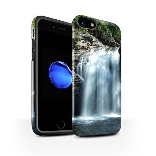 STUFF4 Glanz Harten Stoßfest Hülle / Case für Apple iPhone 8 / Felsig Strom Muster / Schottisch Landschaft Kollektion Wasserfall