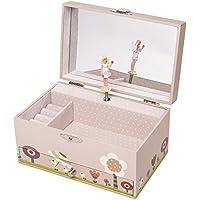 """Spieluhr Trousselier 60609 """" Ninon & Nioui au jardin (rosa)"""" jetzt neu mit """"Fee"""" (Spieldose, Musikdose, Spieluhren) das ideale Geschenk zur Geburt, Taufe ....."""