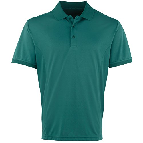 Premier Herren Coolchecker Pique Kurzarm Polo T-Shirt Burgunder
