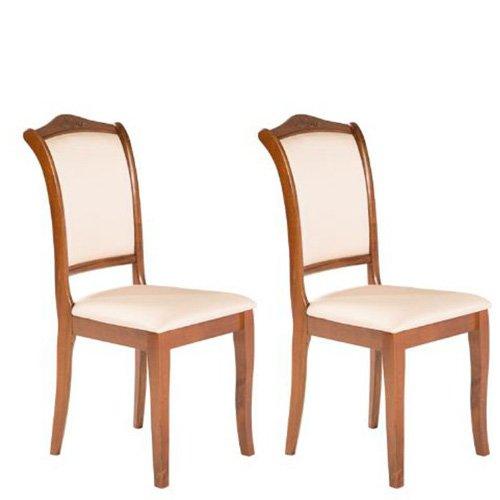Varie sedia classica in legno per cucina, sedie 2 pezzi in tessuto per soggiorno da abbinare al tavolo lola.