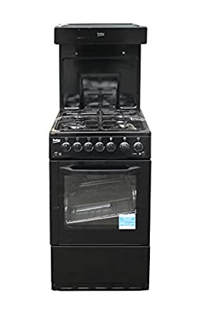 Beko BA52NEK 50cm Single Oven Gas Cooker With High Level Grill - Black