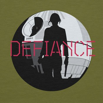 NERDO - Jyn Defiance - Herren T-Shirt Oliv