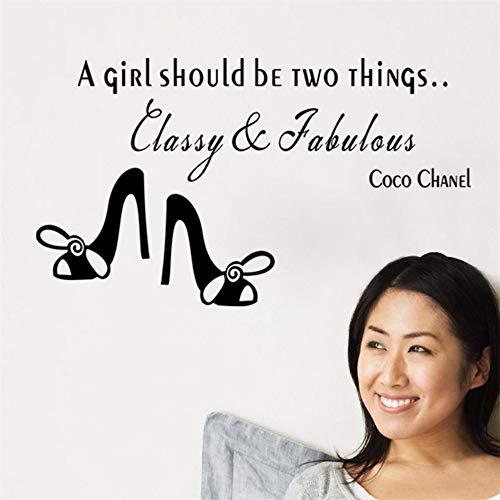 Famosa una ragazza dovrebbe essere scarpe col tacco alto Decorazioni per la casa Adesivi murali Casa Decalcomania Fai da te Citazione Dicendo Arte Grande regalo per una ragazza