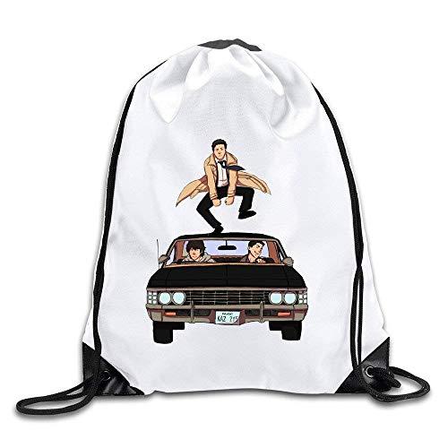 fhjhfgjghfjghfj Supernatural Logo Drawstring Backpack Tasche -