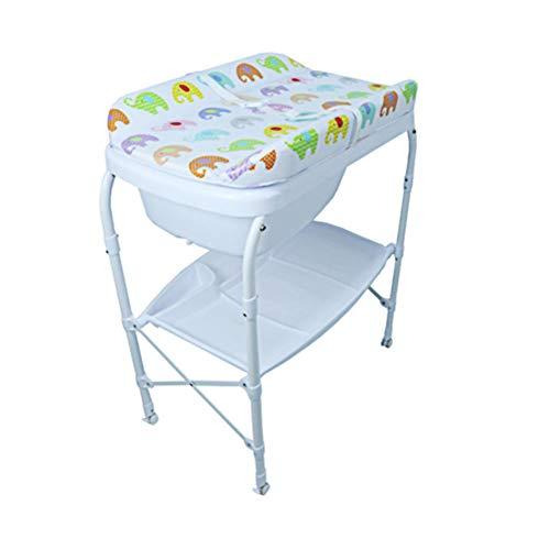 G-Changing Tables GUO@ Multifunktionale Neugeborenen Krippe Windeltisch Faltbare Baby-Dusche-Badewanne RüHrtisch Massagetisch Wickeltisch Mit Wanne (Hängende Dusche Caddies)