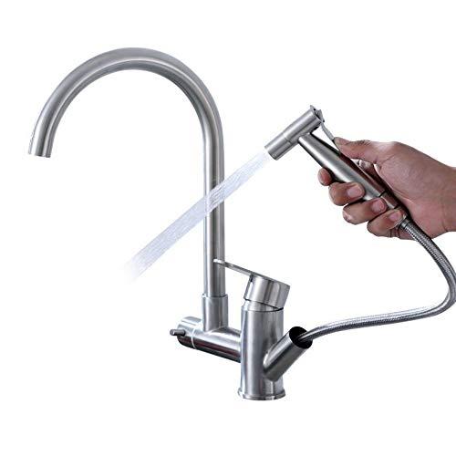 Heiß Und Kalt Küchenauszug Mit Spritzpistole Wasserhahn Spüle Teleskopspüle Spüle Wasserhahn ()