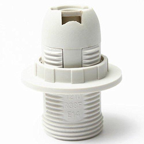 Woopower Support d'ampoule pour ampoule E14 - Douille Pratique - Adaptateur en Plastique pour Abat-jour