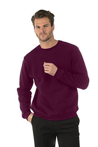 Bruntwood Classic Crew Neck Sweatshirt - Mens & Ladies - 280GSM - Cotton/Polyester (Burgundy, XXL)