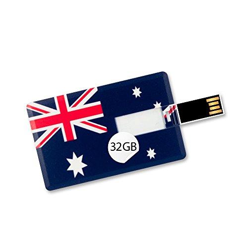 32GB Speicherkarte in Scheckkartenform, Flagge Australien USB Card