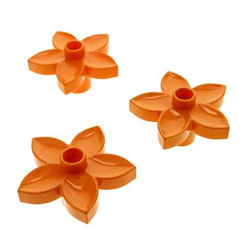 3 x Lego Duplo Pflanze Blüte orange Blume für Set 9130 3772 10508 10584 5544 6510 -