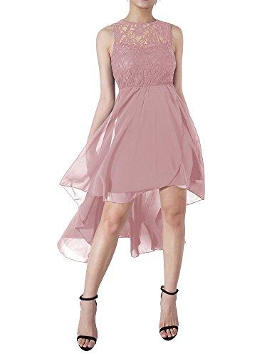 4a07bd2674 AVSUPPLY Vestidos Largos Mujer de Fiesta para Bodas de Noche Cóctel Elegante  Vintage Encaje Chifón con