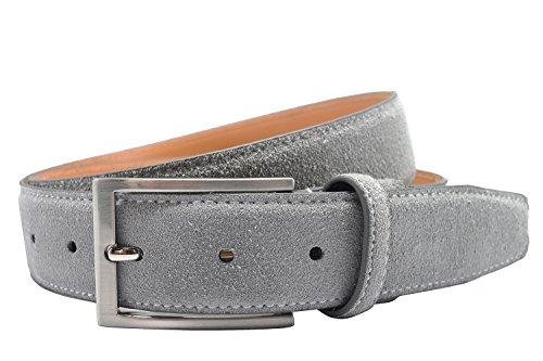 Wildleder Gürtel für Männer Pin Buckle Jeans Gürtel in Grau (Tuch, Denim Herren Jeans)