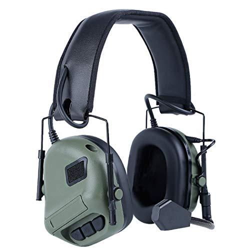 Taktisches Headset,Fansport Kommunikations Headset Tragbarer Helm Stereo Headset Airsoft Headset mit Mikrofon Taktischer Kopfhörer Kopfhörer mit Mikrofon für Airsoft Paintball Jagd Stereo Helm Headset