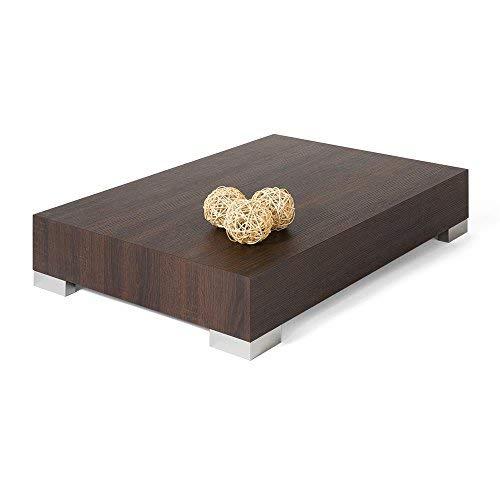 Mobili Fiver iCube 90Couchtisch, Holz, Eiche dunkelbraun, 90x 60x 18cm - Niedriger Tisch
