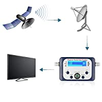 ‏‪IDEA-TECH Digital Satellite Finder, Satfinder With LCD Screen Display, Universal TV Satellite Finder Meter Satellite Signal Finder Tester (Including 1pcs Cable)‬‏