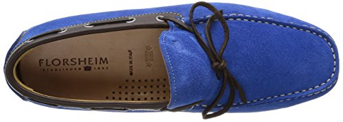 Florsheim Comet, Herren Slipper & Mokassins Blau - Bleu (Electric Suede/Dark Brown)