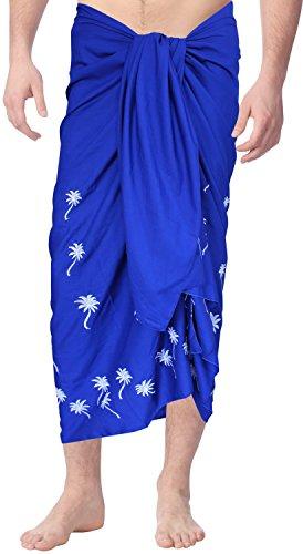 La-Leela-playa-rayn-hombres-bordados-traje-de-bao-de-78x39-pulgadas-sarong-pareo-azul