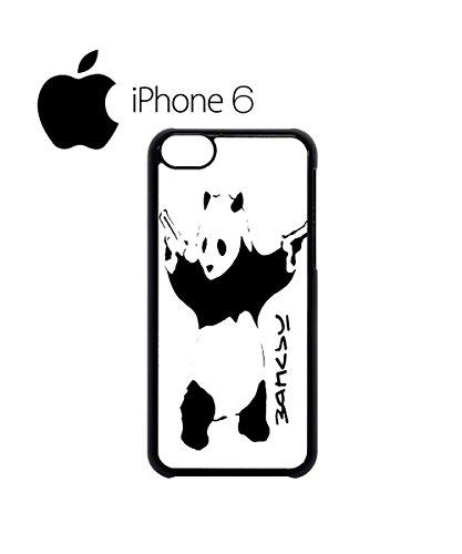 Banksy Panda Street Art Graffiti Swag Mobile Phone Case Back Cover Coque Housse Etui Noir Blanc pour iPhone 6 Black Noir