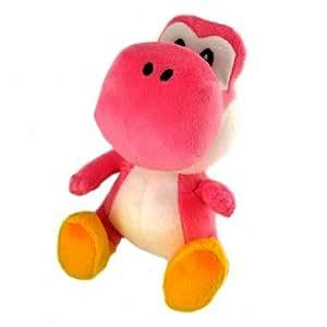 Peluche Nintendo Super Mario Bros Sanei 20 cm : Yoshi rose