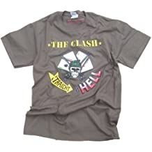 The Clash - Straight To Hell T-Shirt Olive