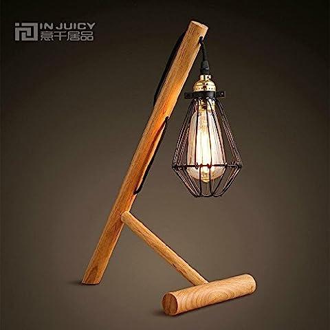 Injuicy Lighting E27 Rétro Vintage Edison Lampe de Bureau Abat-Jour
