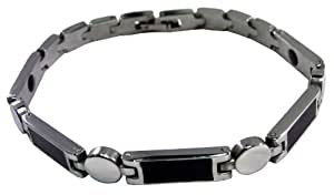 Men's magnetic health bracelet in custom engraved gift box - BR23