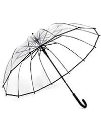 Dulce hogar mujeres/hombres compacto transparente paraguas Creative AUTO par paraguas