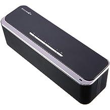 Altavoz Bluetooth Inalámbrico, BlitzWolf Max Bass 20W Subwoofers Pasivos Estéreo Premium Altavoz Portátil Inalámbrico para Exteriores con Micrófono, Entrada AUX, Hecho de Metal