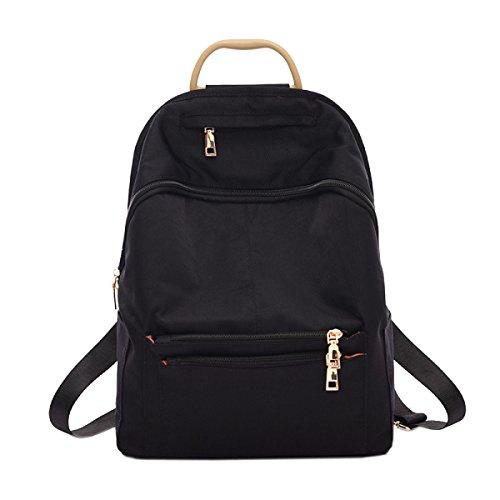 Art Und Weise Studenten Waschen Freizeit Schule Reisen College Rucksack Handtasche Black