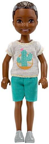 Barbie FHK94 - Chelseas Freund Puppe Kaktus Spaß mit schwarzen Haaren, Jungen Puppe 15 cm groß, Puppen Spielzeug ab 3 Jahren