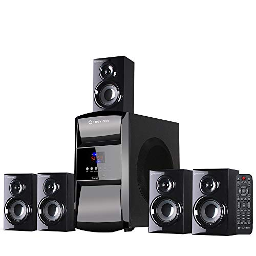 Truvison TV-6045bt 16000W Multimedia, 5.1 Home Theater System Speaker with Bluetooth USB SD FM Playback Support Feature Superior Sound Clarity - New Home Theatre 2018 Model