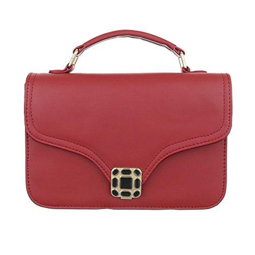 Ital-Design, Borsa a spalla donna rosso vivo