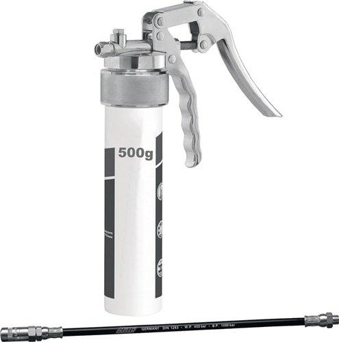 Preisvergleich Produktbild Mato Einhandfettpresse TG-LS500, Anschluss M10x1 mit 300mm Schlauch PH-30C 4-Backen-Hydraulik-Greifmundstück