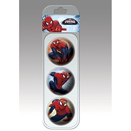 Lively Moments Bälle 6 cm Marvel Spiderman 3 Stück im Display / Wurfball / Spielball