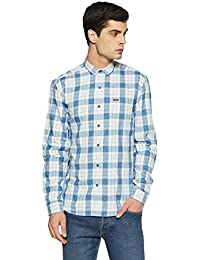 Wrangler Men's Checkered Slim Fit Casual Shirt