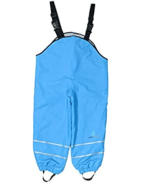 Dry Kids Childrens Waterproof Dungarees Fleece Lined. Boys and Girls Rainwear for Outdoor play