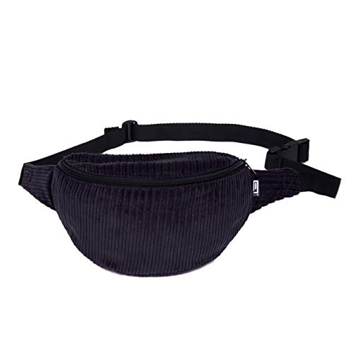 Bauchtasche, cord breit dunkles blaugrau, Hipbag, Umhängetasche, Gürteltasche, Hüfttasche -