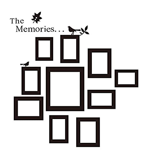 Homgaty DIY Wall Art Family Picture Photo Frame Set Wall Decal Sticker Home Decoration