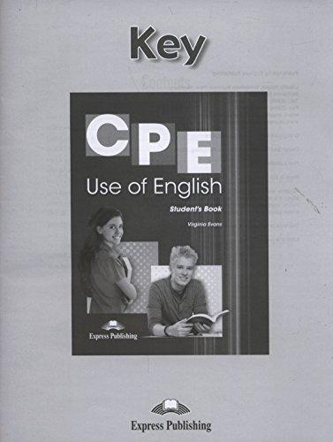 CPE Use of English Key par Evans Virginia
