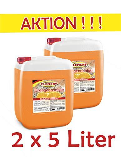 Orangenreiniger Konzentrat 2 x 5L Fleckentferner Orangenöl Fettlöser Bodenreiniger Universalreiniger Kraftreiniger
